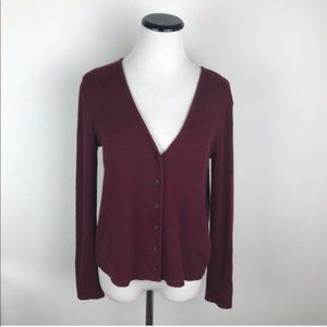 Madewell Cardigan Sweater Light Weight Red